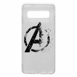 Чехол для Samsung S10 Avengers logotype destruction