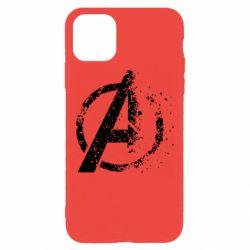 Чехол для iPhone 11 Pro Max Avengers logotype destruction