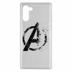 Чехол для Samsung Note 10 Avengers logotype destruction