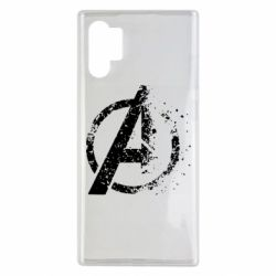 Чехол для Samsung Note 10 Plus Avengers logotype destruction