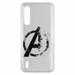 Чехол для Xiaomi Mi9 Lite Avengers logotype destruction
