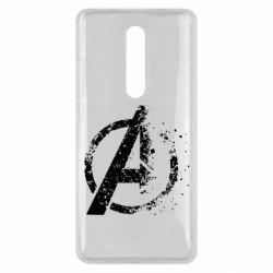 Чехол для Xiaomi Mi9T Avengers logotype destruction
