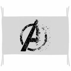 Флаг Avengers logotype destruction