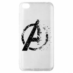 Чехол для Xiaomi Redmi Go Avengers logotype destruction