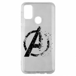 Чехол для Samsung M30s Avengers logotype destruction