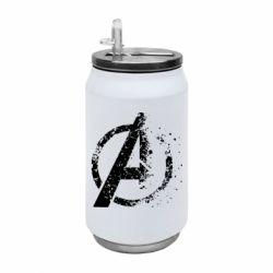 Термобанка 350ml Avengers logotype destruction