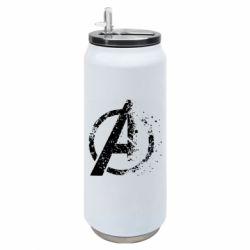Термобанка 500ml Avengers logotype destruction