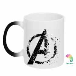 Кружка-хамелеон Avengers logotype destruction