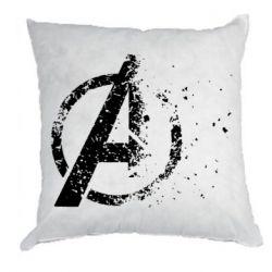 Подушка Avengers logotype destruction