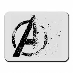 Коврик для мыши Avengers logotype destruction