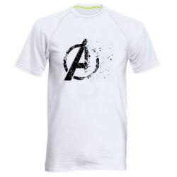 Мужская спортивная футболка Avengers logotype destruction