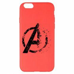 Чехол для iPhone 6 Plus/6S Plus Avengers logotype destruction