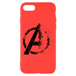 Чехол для iPhone 7 Avengers logotype destruction