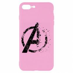 Чехол для iPhone 7 Plus Avengers logotype destruction