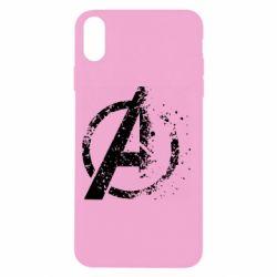 Чехол для iPhone X/Xs Avengers logotype destruction