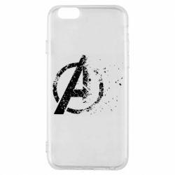 Чехол для iPhone 6/6S Avengers logotype destruction