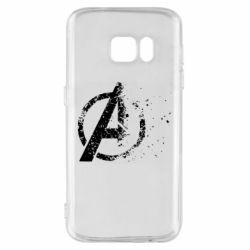 Чехол для Samsung S7 Avengers logotype destruction