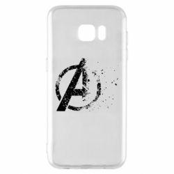 Чехол для Samsung S7 EDGE Avengers logotype destruction