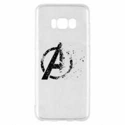 Чехол для Samsung S8 Avengers logotype destruction