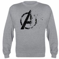Реглан (свитшот) Avengers logotype destruction
