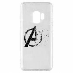 Чехол для Samsung S9 Avengers logotype destruction