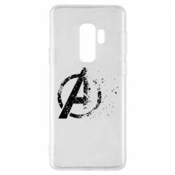 Чехол для Samsung S9+ Avengers logotype destruction