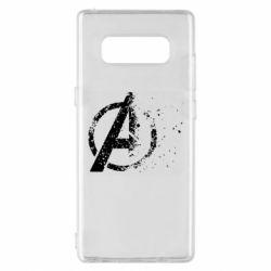 Чехол для Samsung Note 8 Avengers logotype destruction