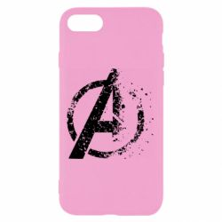 Чехол для iPhone 8 Avengers logotype destruction