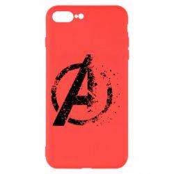 Чехол для iPhone 8 Plus Avengers logotype destruction