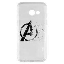 Чехол для Samsung A3 2017 Avengers logotype destruction