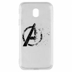 Чехол для Samsung J3 2017 Avengers logotype destruction
