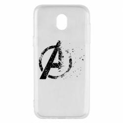 Чехол для Samsung J5 2017 Avengers logotype destruction