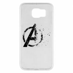 Чехол для Samsung S6 Avengers logotype destruction