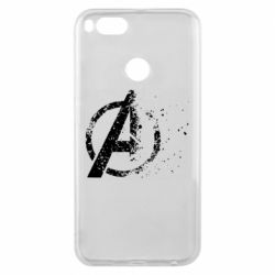 Чехол для Xiaomi Mi A1 Avengers logotype destruction