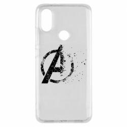 Чехол для Xiaomi Mi A2 Avengers logotype destruction