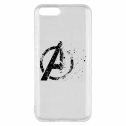 Чехол для Xiaomi Mi6 Avengers logotype destruction