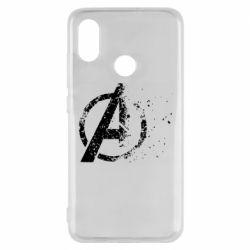 Чехол для Xiaomi Mi8 Avengers logotype destruction
