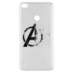 Чехол для Xiaomi Mi Max 2 Avengers logotype destruction