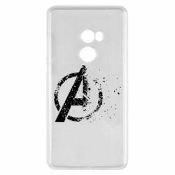 Чехол для Xiaomi Mi Mix 2 Avengers logotype destruction