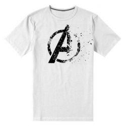 Мужская стрейчевая футболка Avengers logotype destruction