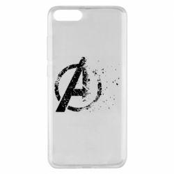 Чехол для Xiaomi Mi Note 3 Avengers logotype destruction