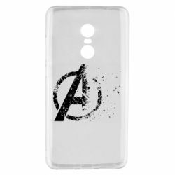 Чехол для Xiaomi Redmi Note 4 Avengers logotype destruction