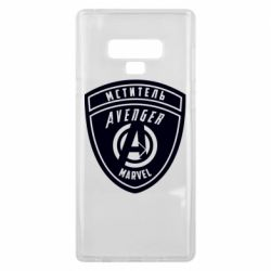 Чехол для Samsung Note 9 Avengers Marvel badge