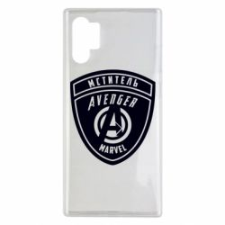 Чехол для Samsung Note 10 Plus Avengers Marvel badge