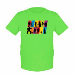 Дитяча футболка Avengers silhouette