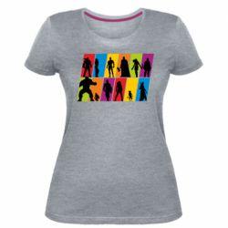 Жіноча стрейчева футболка Avengers silhouette