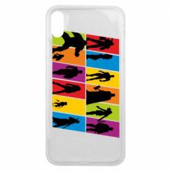 Чохол для iPhone Xs Max Avengers silhouette