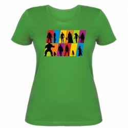 Жіноча футболка Avengers silhouette