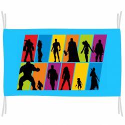 Прапор Avengers silhouette
