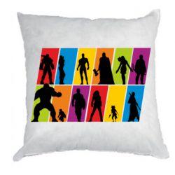 Подушка Avengers silhouette